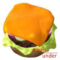 Cheeseburger with half a bun