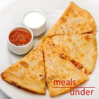 Cheese Quesadilla with Sour Cream